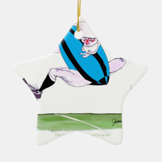 rugby try, tony fernandes Double-Sided star ceramic christmas ornament