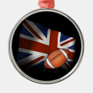 Rugby | UK Flag Metal Ornament
