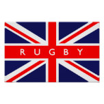 Rugby UK Flag Poster