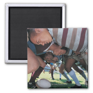 Rugby Union Players in a Scrum 2 Inch Square Magnet