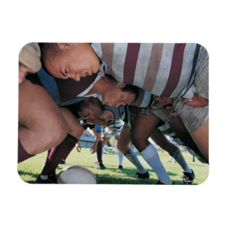 Rugby Union Players in a Scrum Rectangular Photo Magnet