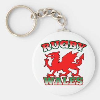 Rugby Wales Flag Dragon Keychain