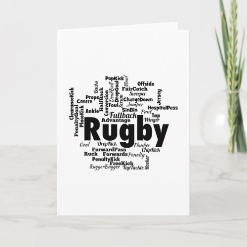 Rugby Word Cloud Card