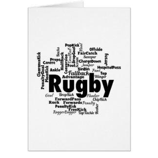Rugby Word Cloud Card