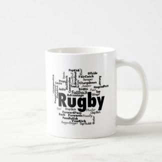 Rugby Word Cloud Coffee Mug