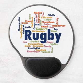 Rugby Word Cloud Gel Mouse Pad