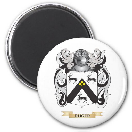 Ruger Coat of Arms (Family Crest) 2 Inch Round Magnet