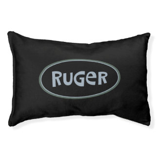 Ruger Personalized Black Pet Bed