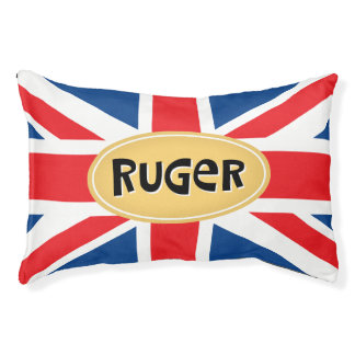 Ruger Personalized British Pet Bed