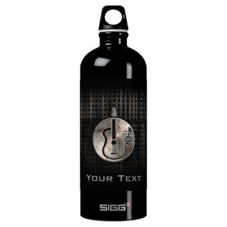 Rugged Acoustic Guitar Aluminum Water Bottle