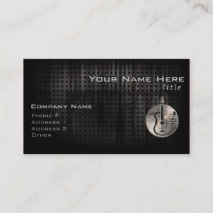 Guitar business cards templates zazzle rugged acoustic guitar business card colourmoves