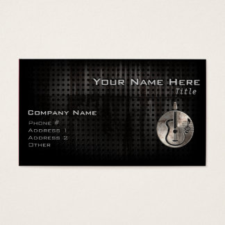 Rugged Acoustic Guitar Business Card