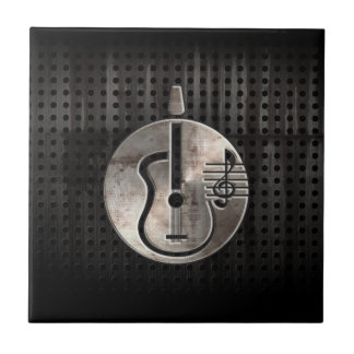 Rugged Acoustic Guitar Ceramic Tile