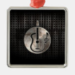 Rugged Acoustic Guitar Christmas Tree Ornament