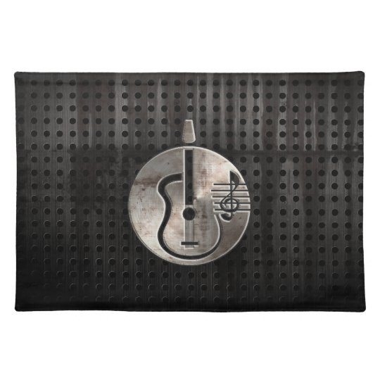 Rugged Acoustic Guitar Cloth Placemat