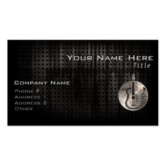 Rugged Acoustic Guitar Double-Sided Standard Business Cards (Pack Of 100)