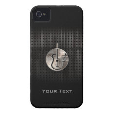 Rugged Acoustic Guitar Iphone 4 Case-mate Case at Zazzle