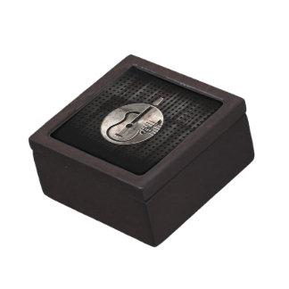 Rugged Acoustic Guitar Keepsake Box