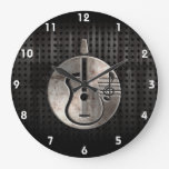 Rugged Acoustic Guitar Large Clock