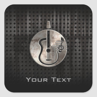 Rugged Acoustic Guitar Square Sticker