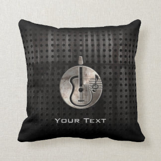 Rugged Acoustic Guitar Throw Pillow