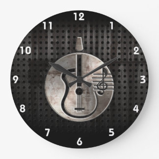 Rugged Acoustic Guitar Wall Clock