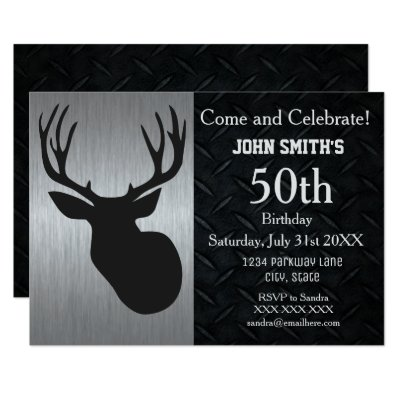 50th birthday buck with hunting camo card zazzle filmwisefo Images