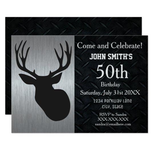 Rugged adult deer hunting birthday invitations zazzle rugged adult deer hunting birthday invitations filmwisefo