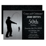 Rugged Adult Fishing Birthday Invitation at Zazzle