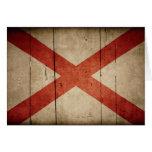 Rugged Alabama Flag Cards