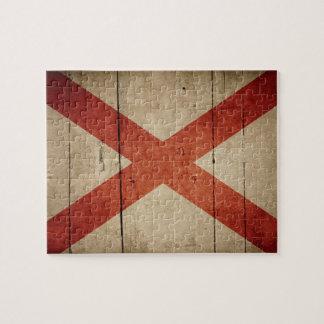 Rugged Alabama Flag Jigsaw Puzzle