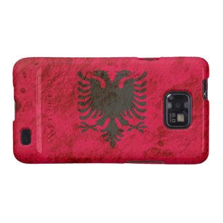 Rugged Albanian Flag Samsung Galaxy SII Cover