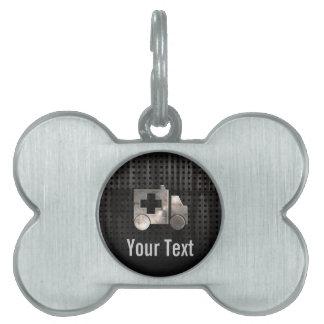 Rugged Ambulance Pet ID Tag