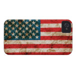 Rugged American Flag iPhone 4 Case-Mate Cases