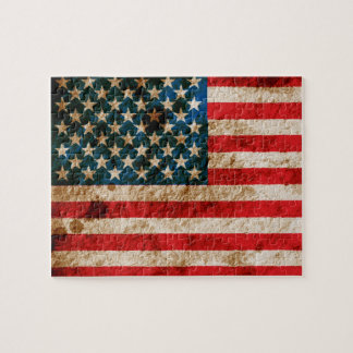 Rugged American Flag Jigsaw Puzzles