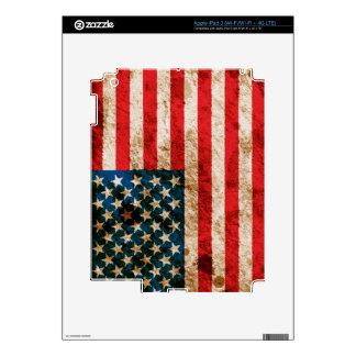 Rugged American Flag iPad 3 Skin
