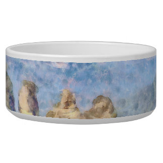 Rugged and beautiful mountains bowl
