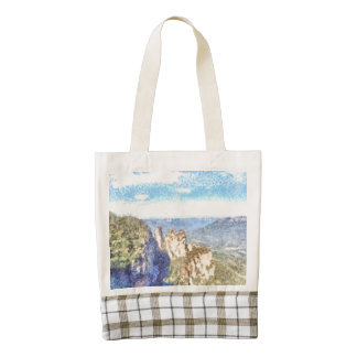 Rugged and beautiful mountains zazzle HEART tote bag