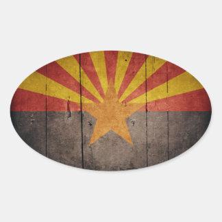 Rugged Arizona Flag Oval Sticker