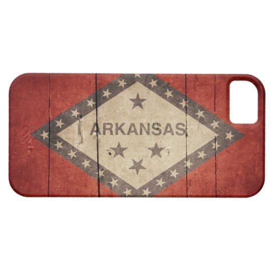 Rugged Arkansas Flag iPhone SE/5/5s Case