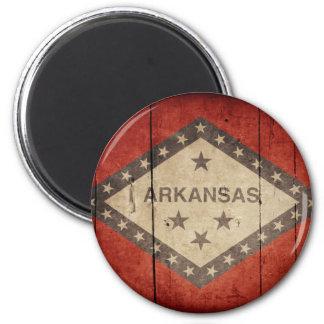 Rugged Arkansas Flag Magnet