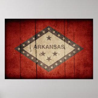 Rugged Arkansas Flag Print