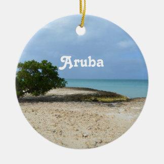 Rugged Aruba Ceramic Ornament