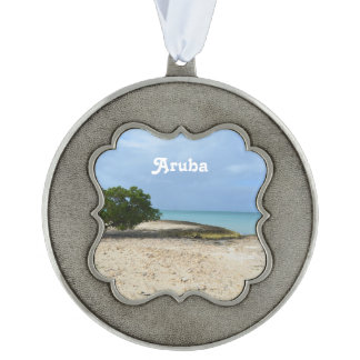Rugged Aruba Pewter Ornament