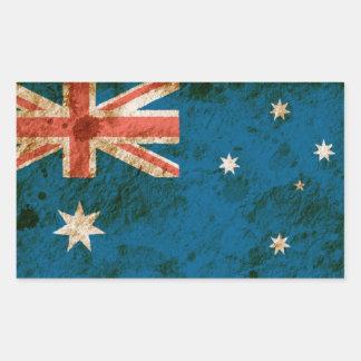 Rugged Australian Flag Rectangular Sticker