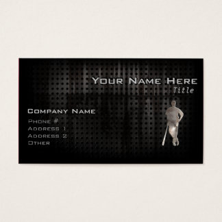 Rugged Baseball Business Card