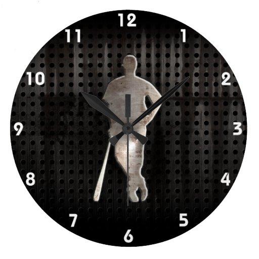 Rugged Baseball Large Clock