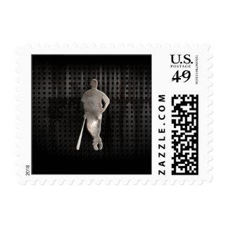 Rugged Baseball Postage Stamps