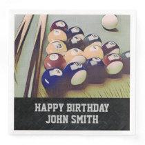 Rugged Billiards Men's Birthday Napkins