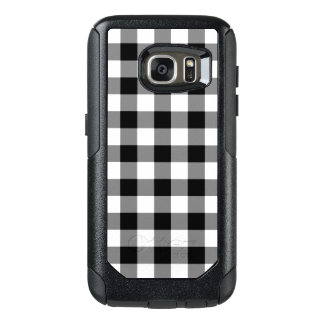 Rugged Black and White Gingham Pattern OtterBox Samsung Galaxy S7 Case